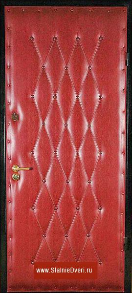 Дутая железная дверь эконом-класса.