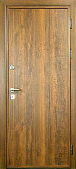железные двери с отделкой под дерево